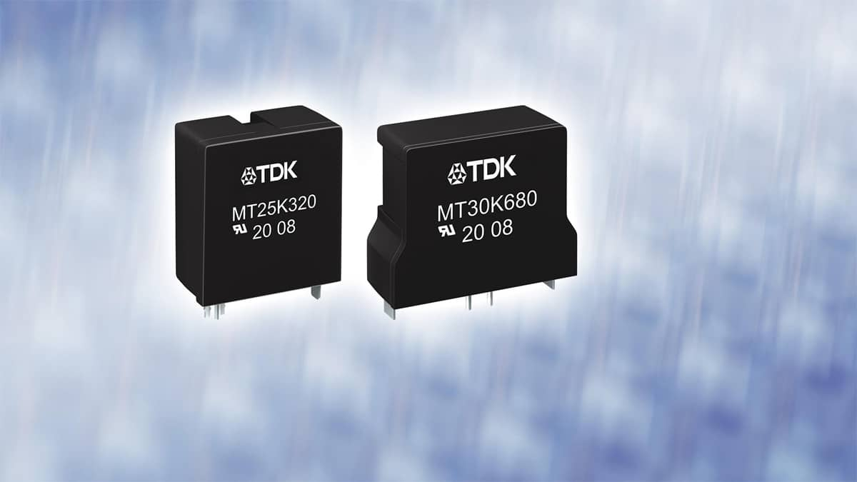 TDK Releases New Series of  Varistors for Overvoltage Protection and Enhanced Monitoring