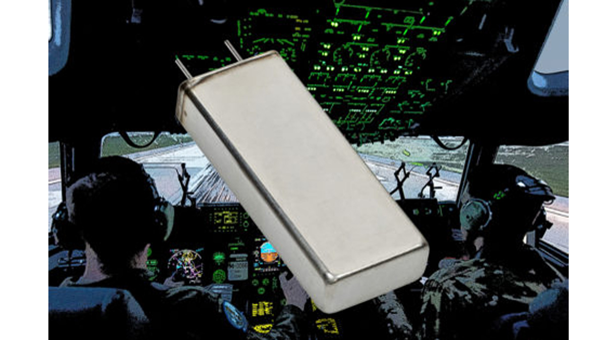 Cornell Dubilier Flat Aluminum Electrolytic Capacitors withstand 150 °C and 80g Vibration