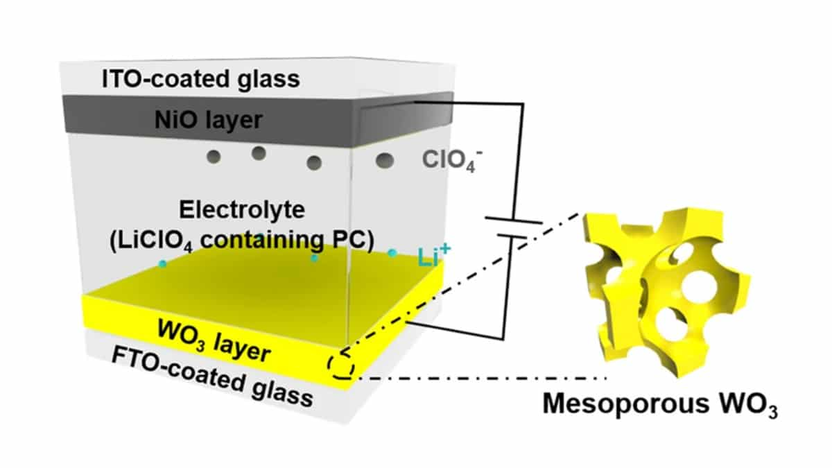Fast Electrochromic Supercapacitors Change Color According to their Stored Energy Level