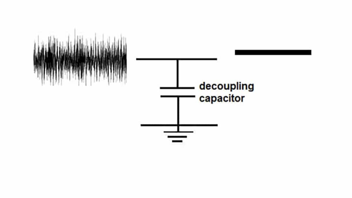 Reduce Harmonic Distortion by Decoupling Capacitor